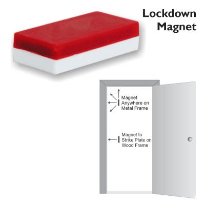 Lockdown Magnet for Classroom Door Jamb